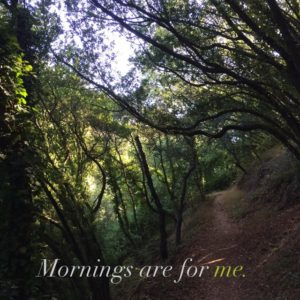 Miracle Morning: Or, How I keep from going batshit crazy