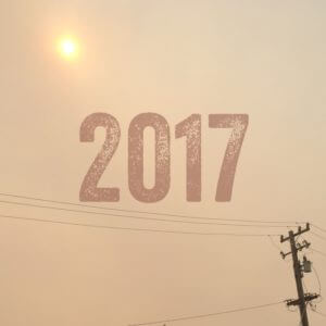 2017 - Smoke obscures the sun